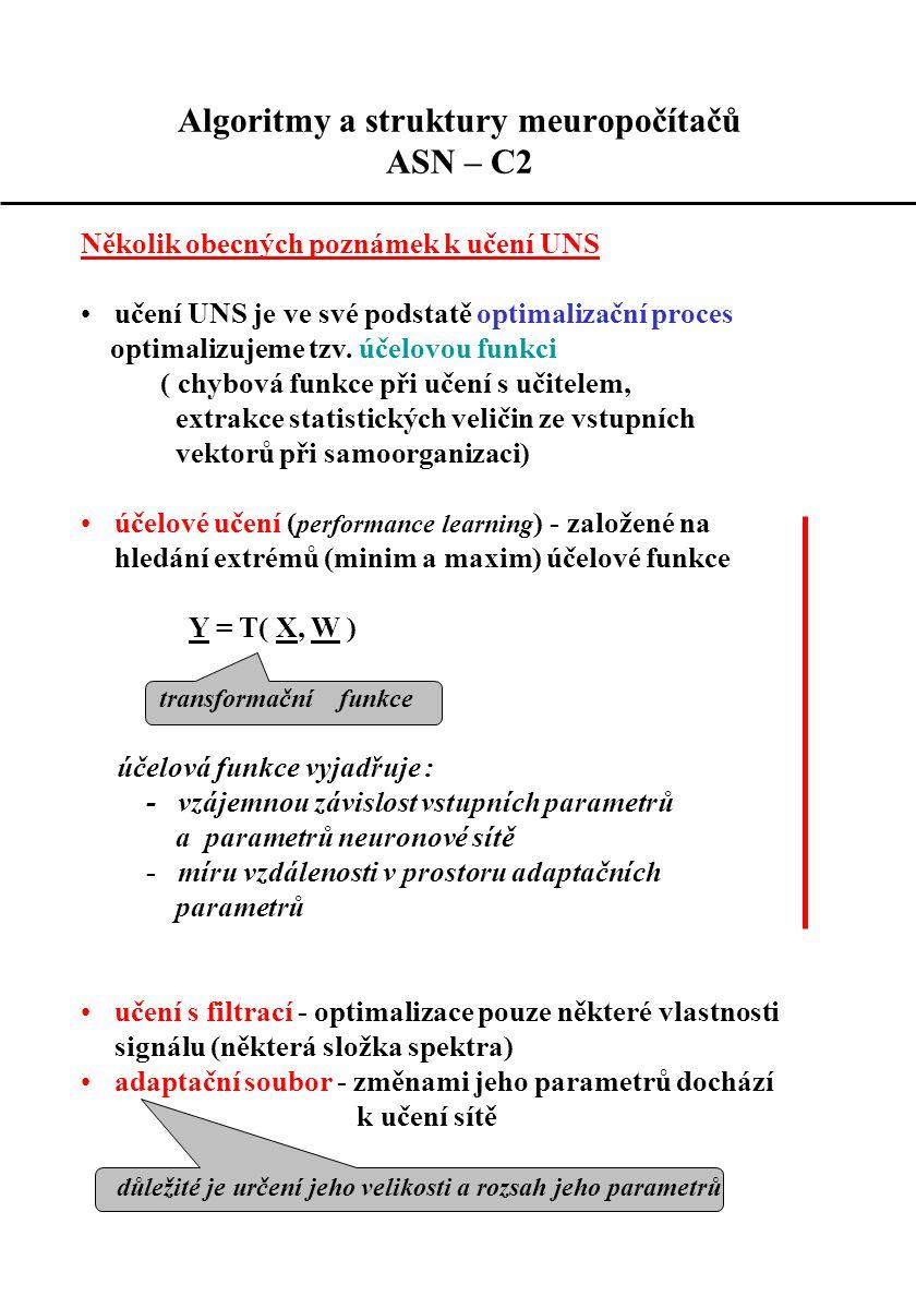 Algoritmy a struktury meuropočítačů ASN – C2