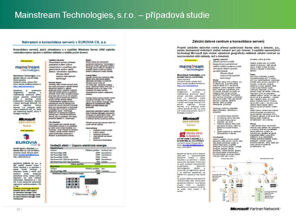 Mainstream Technologies, s.r.o. – případová studie