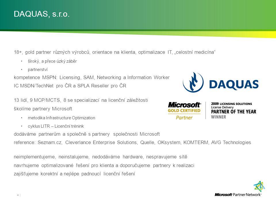 """DAQUAS, s.r.o. 18+, gold partner různých výrobců, orientace na klienta, optimalizace IT, """"celostní medicína"""