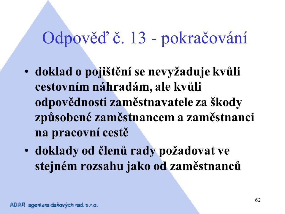 Odpověď č. 13 - pokračování