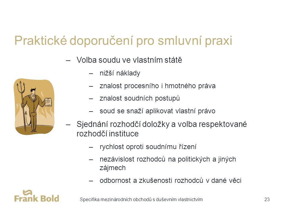 Praktické doporučení pro smluvní praxi