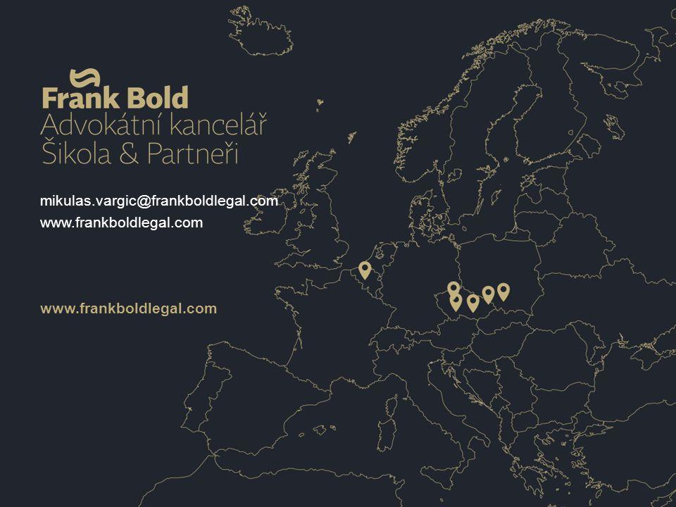 mikulas.vargic@frankboldlegal.com www.frankboldlegal.com