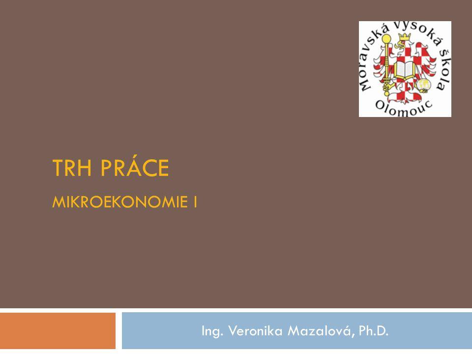 Trh práce Mikroekonomie I