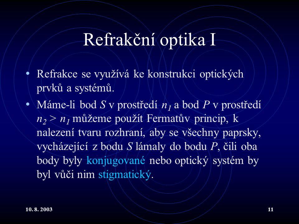 Refrakční optika I Refrakce se využívá ke konstrukci optických prvků a systémů.