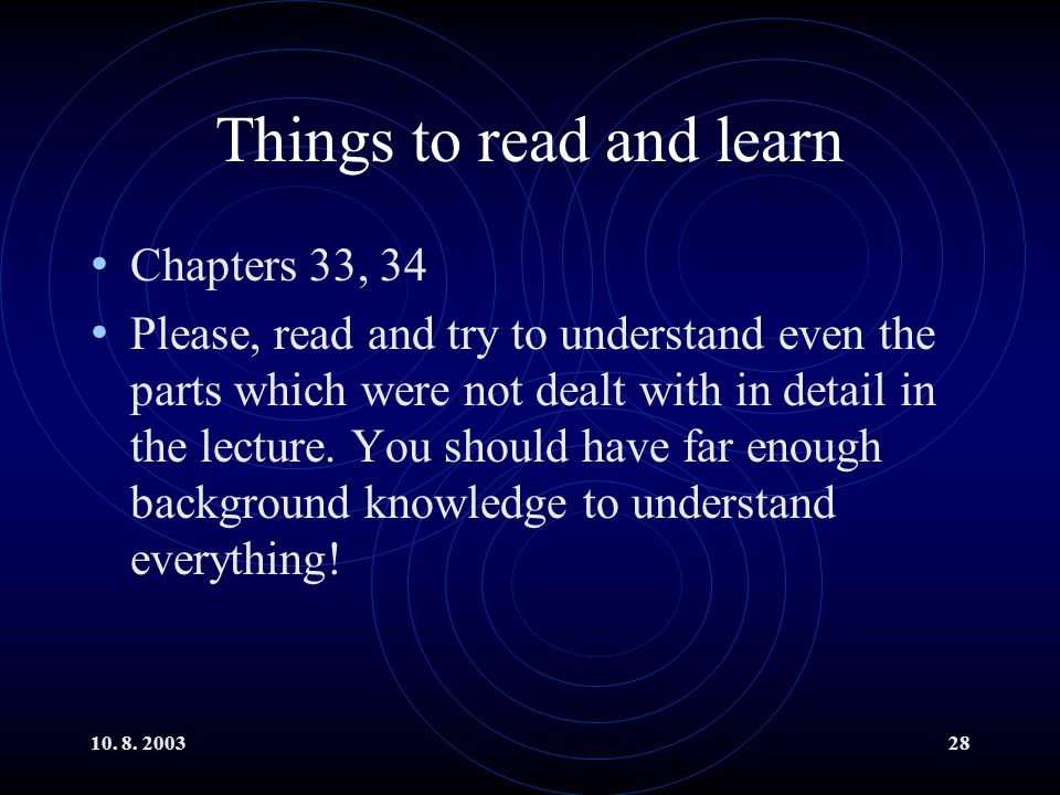 Things to read and learn