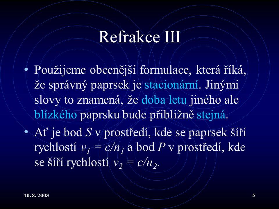 Refrakce III