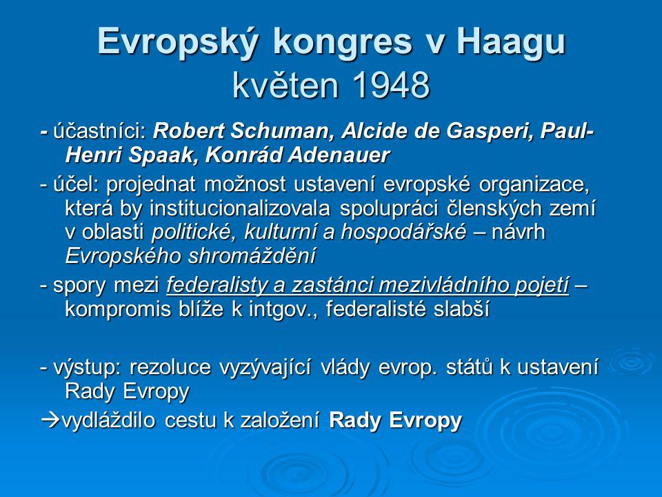Evropský kongres v Haagu květen 1948