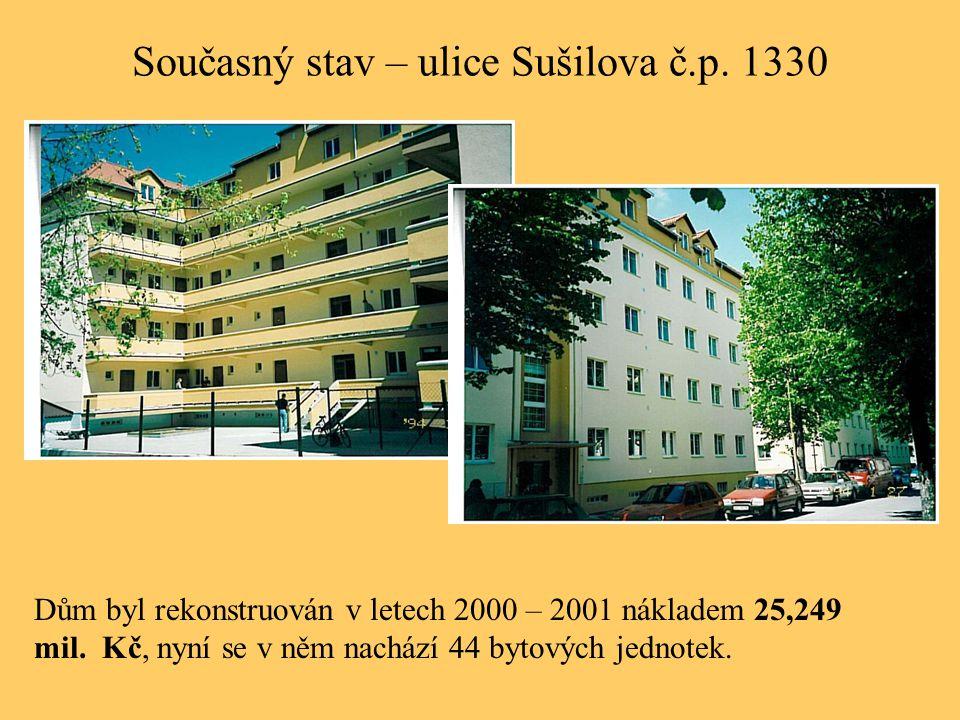 Současný stav – ulice Sušilova č.p. 1330