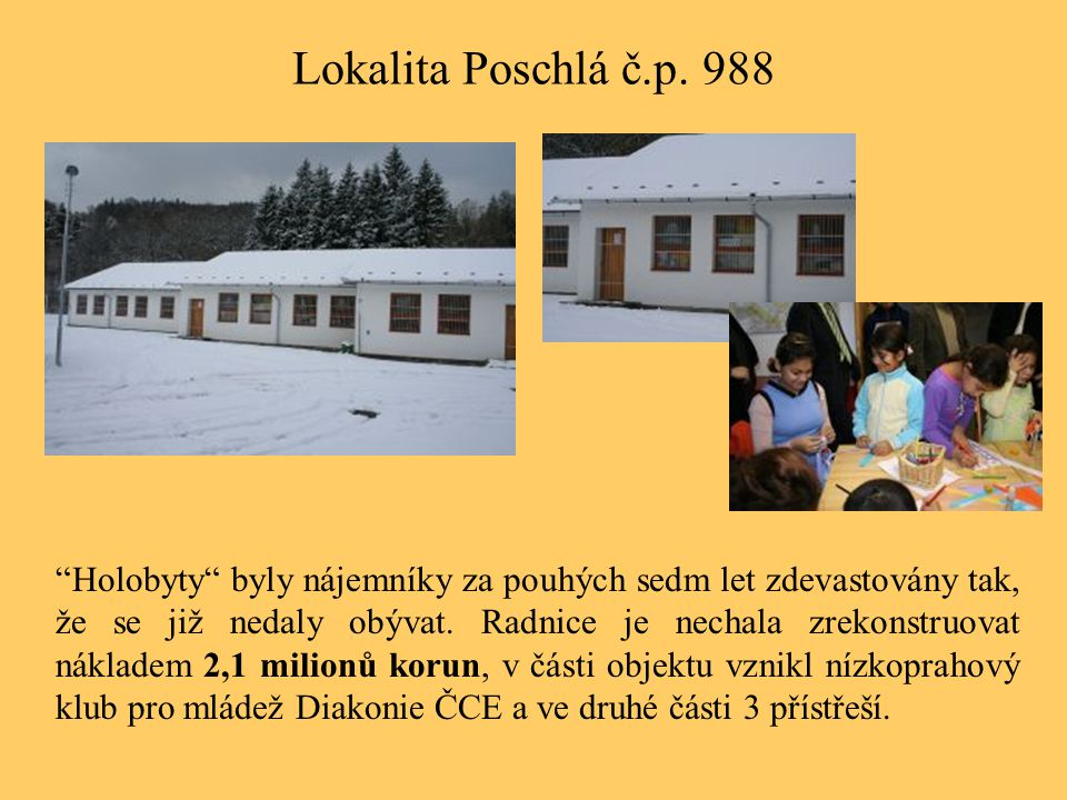 Lokalita Poschlá č.p. 988
