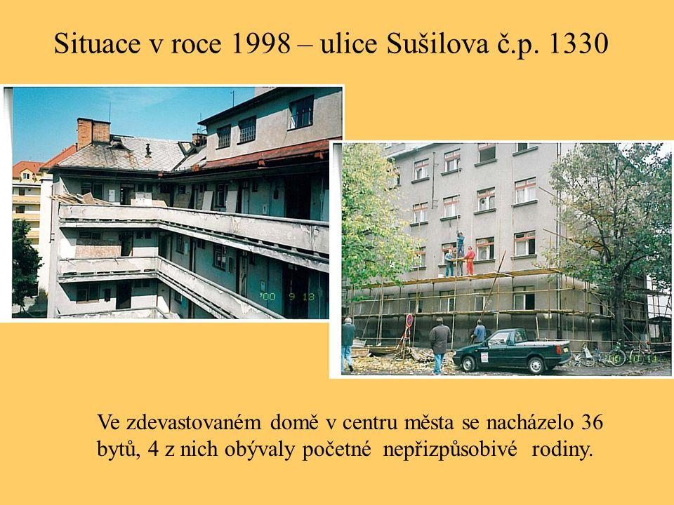 Situace v roce 1998 – ulice Sušilova č.p. 1330