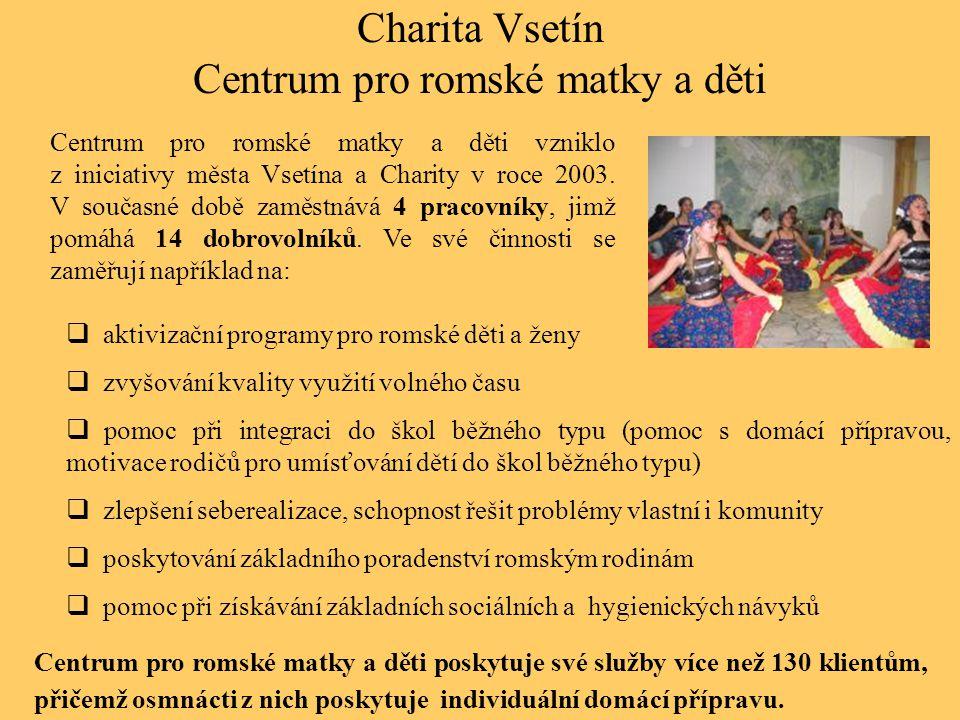 Charita Vsetín Centrum pro romské matky a děti