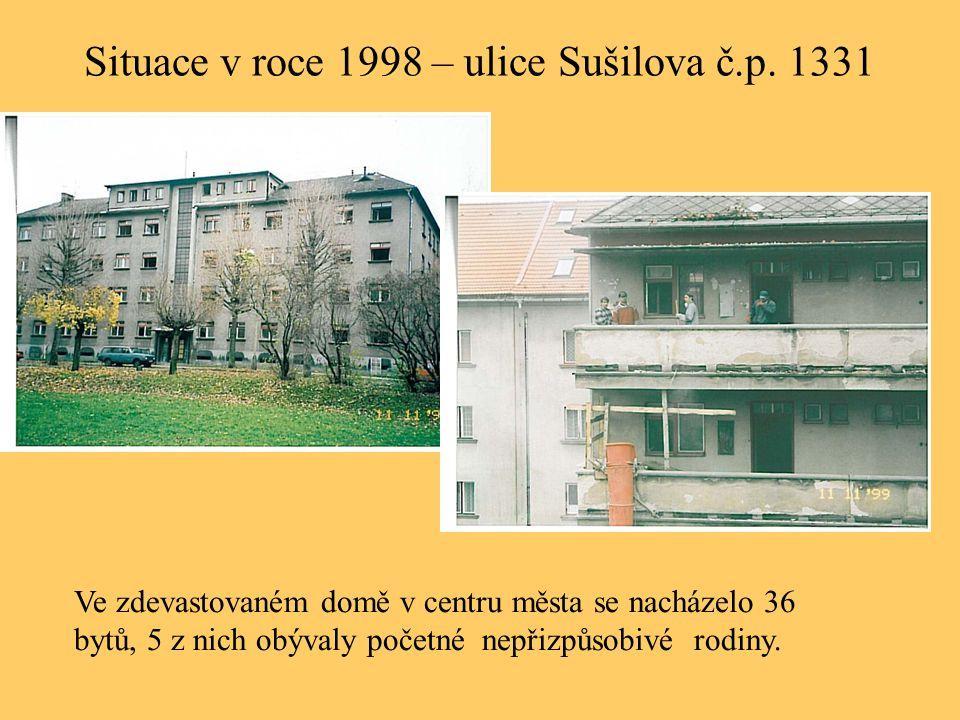 Situace v roce 1998 – ulice Sušilova č.p. 1331