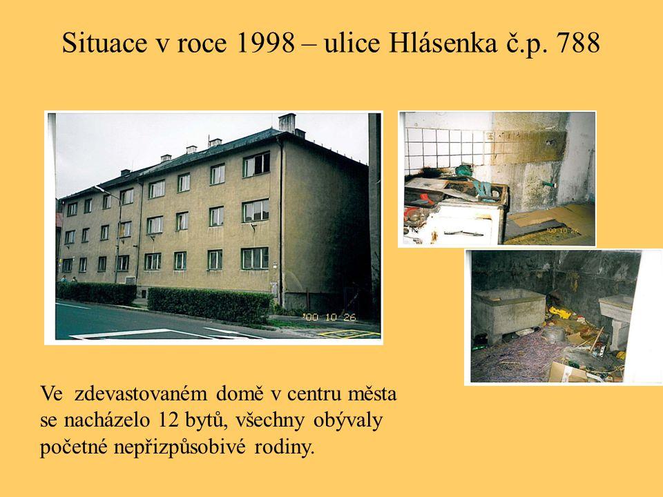 Situace v roce 1998 – ulice Hlásenka č.p. 788