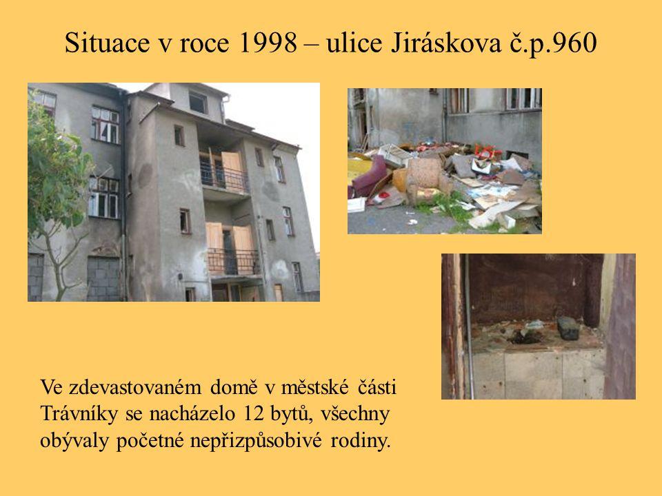 Situace v roce 1998 – ulice Jiráskova č.p.960