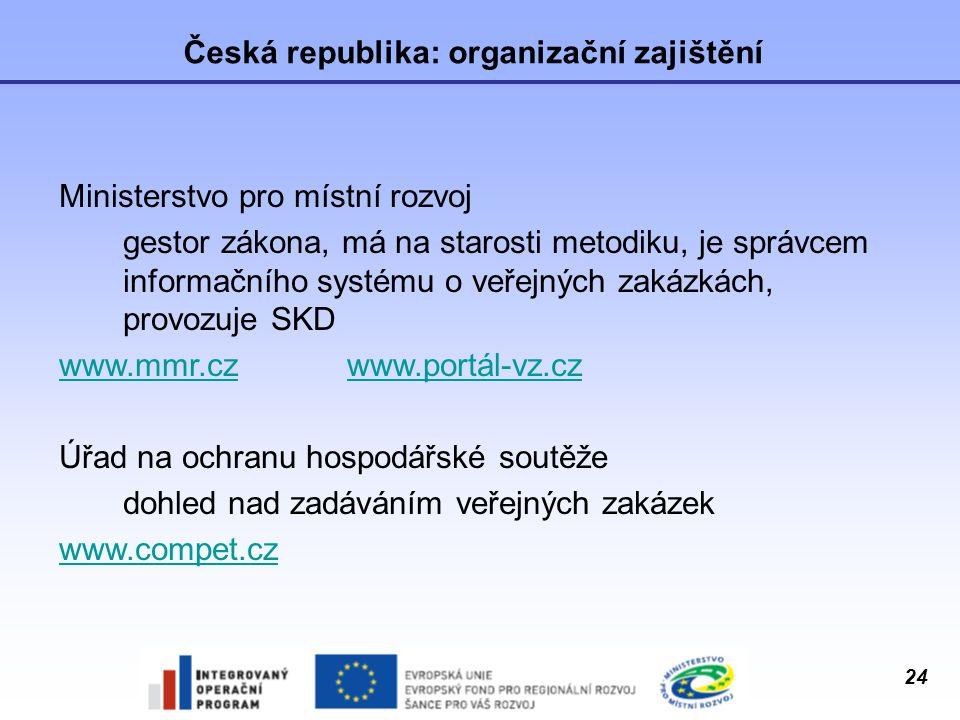 Česká republika: organizační zajištění