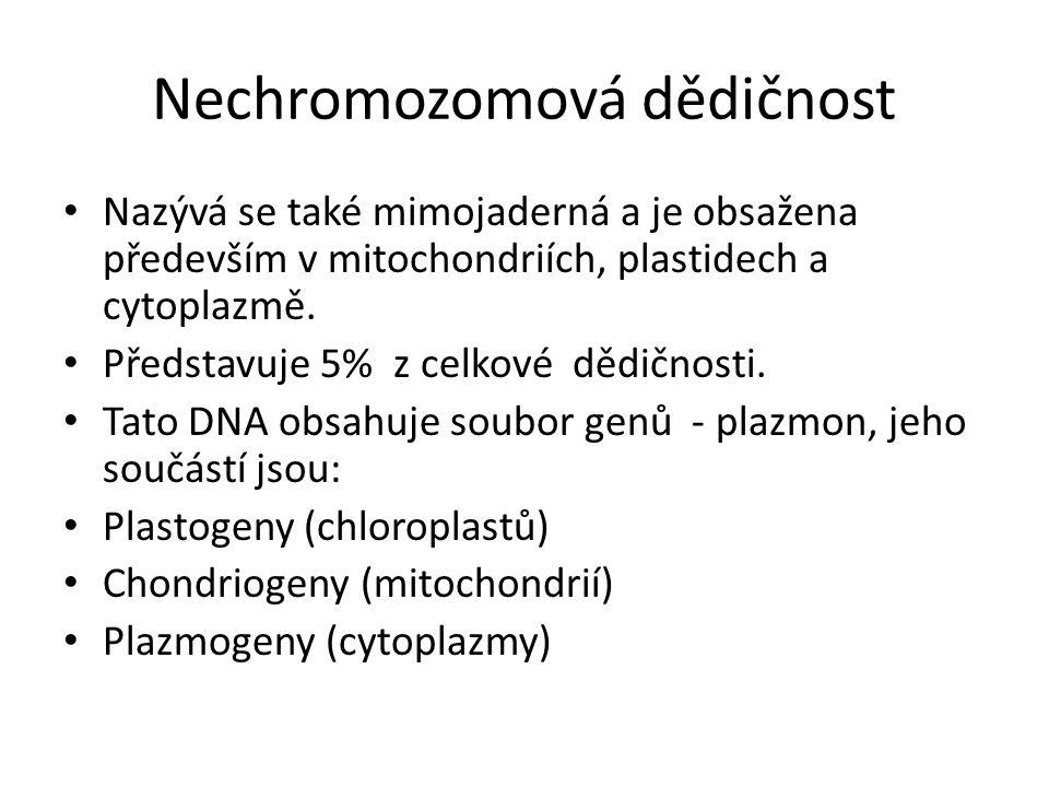 Nechromozomová dědičnost