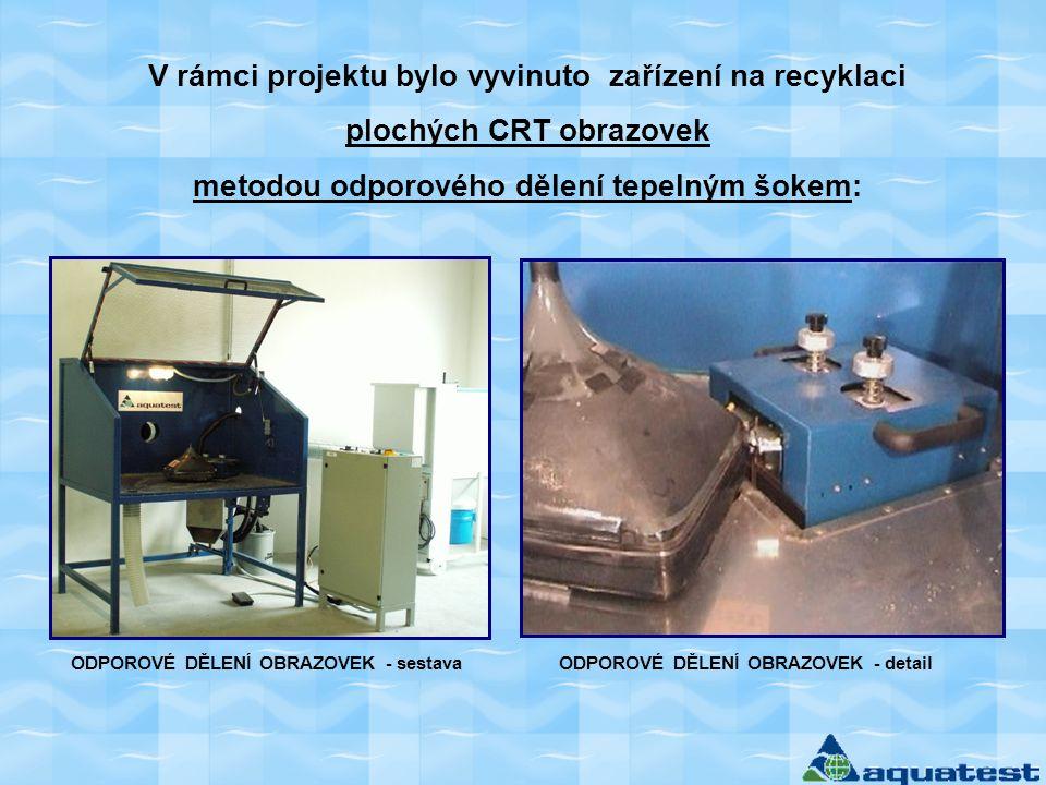 V rámci projektu bylo vyvinuto zařízení na recyklaci