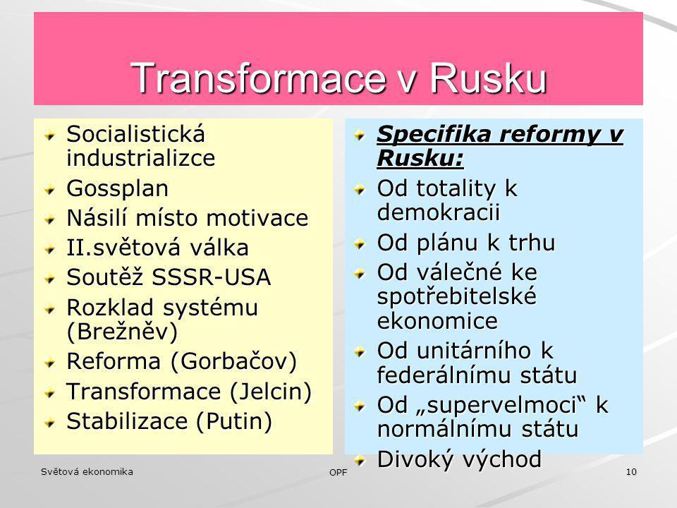 Transformace v Rusku Socialistická industrializce Gossplan
