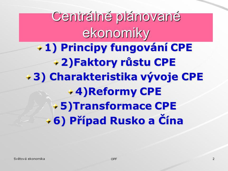 Centrálně plánované ekonomiky