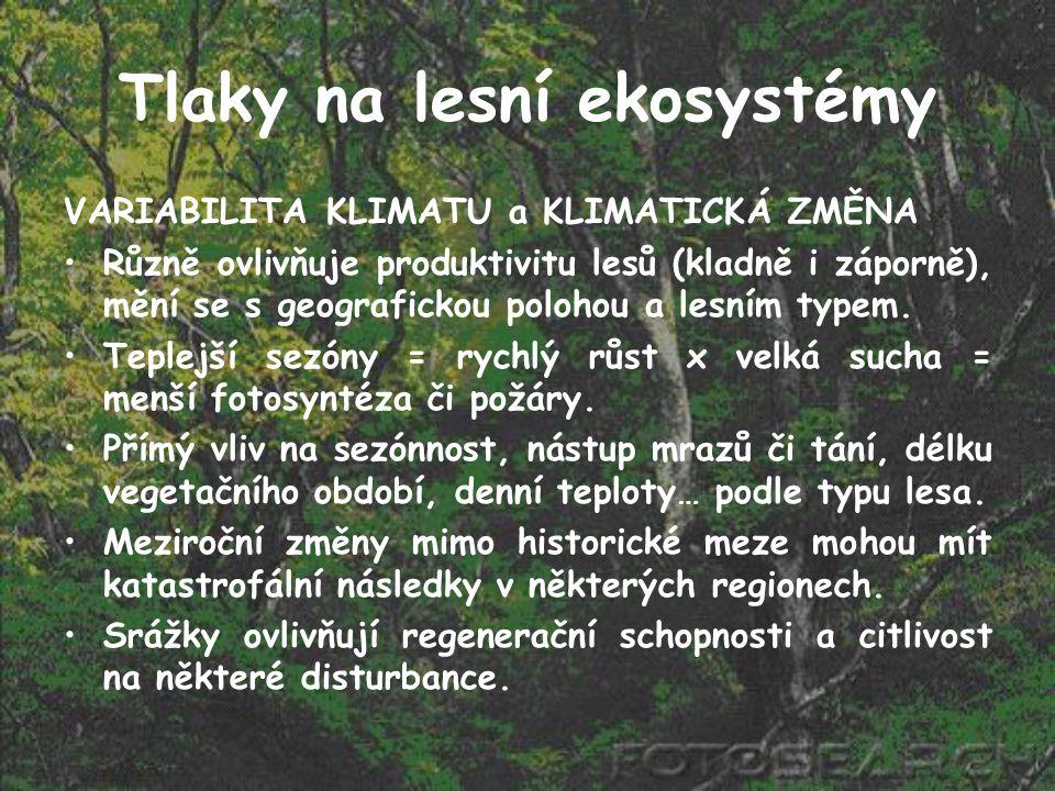 Tlaky na lesní ekosystémy