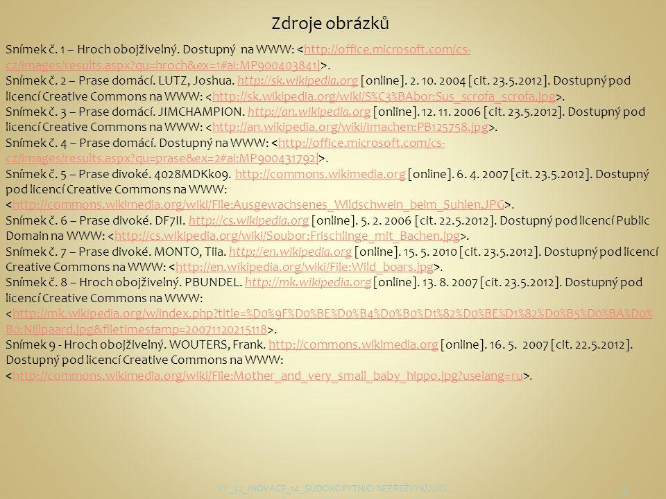 VY_32_INOVACE_14_SUDOKOPYTNÍCI NEPŘEŽVYKUJÍCÍ