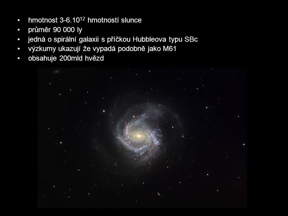 hmotnost 3-6.1012 hmotností slunce