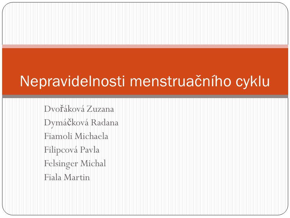 Nepravidelnosti menstruačního cyklu