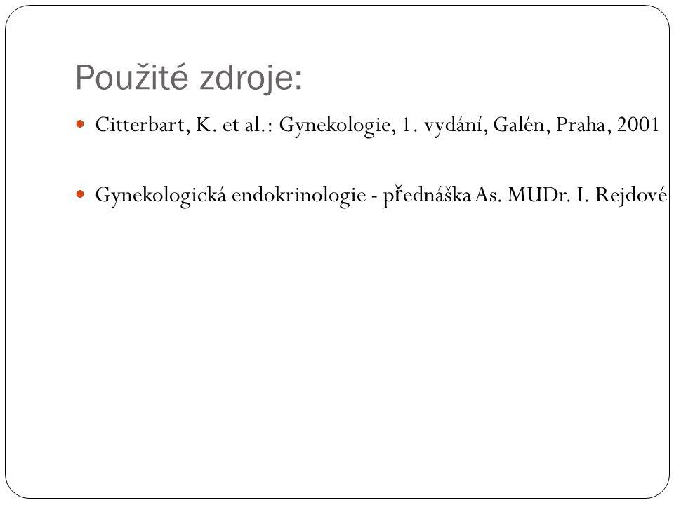 Použité zdroje: Citterbart, K. et al.: Gynekologie, 1.