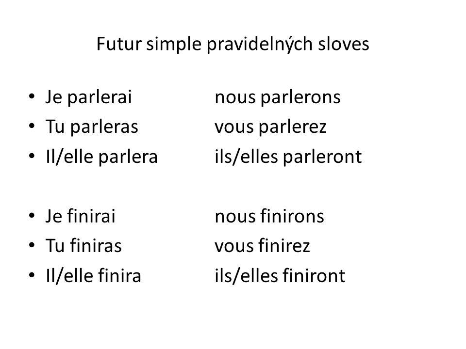 Futur simple pravidelných sloves