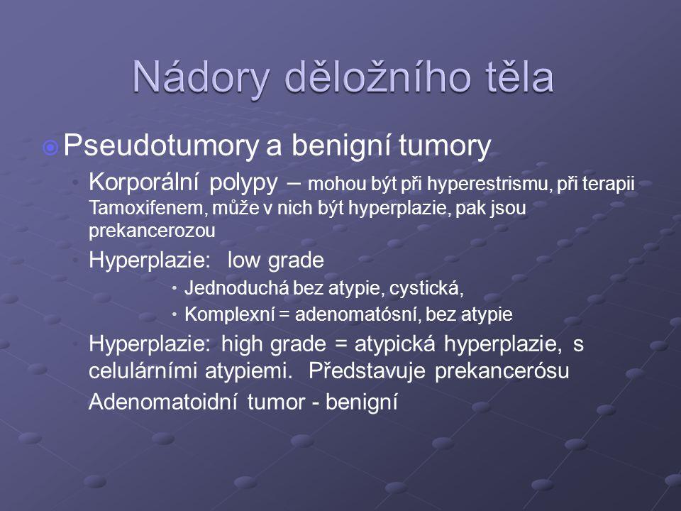 Nádory děložního těla Pseudotumory a benigní tumory