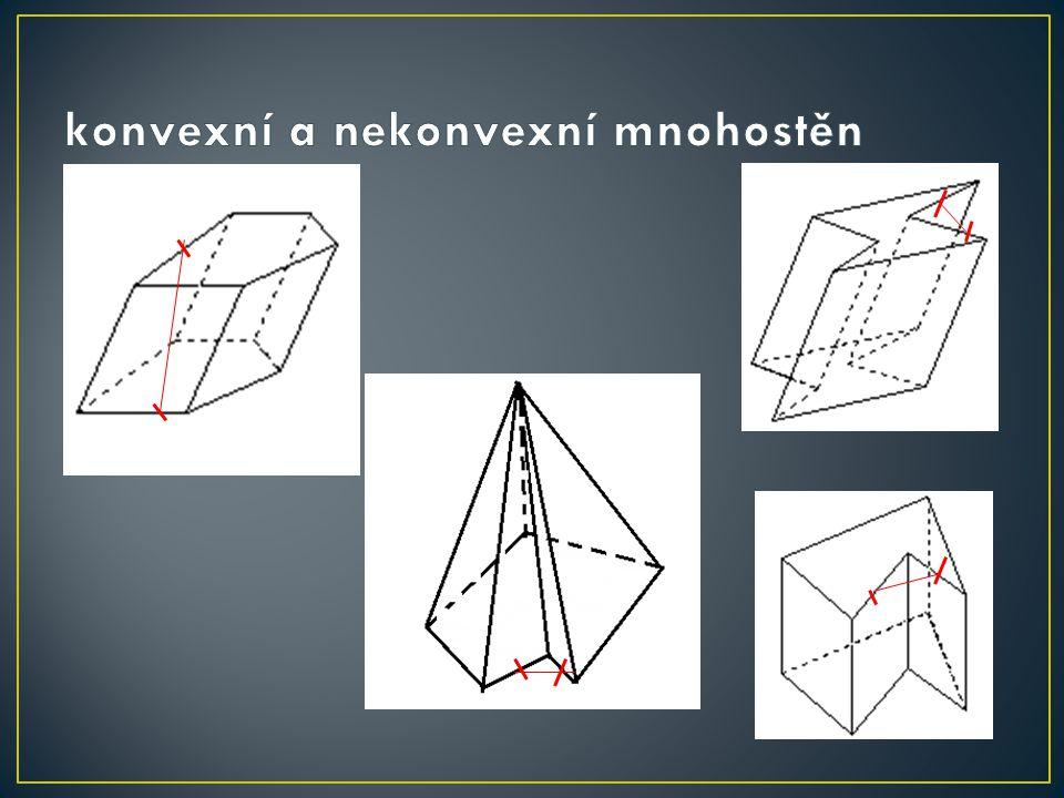 konvexní a nekonvexní mnohostěn