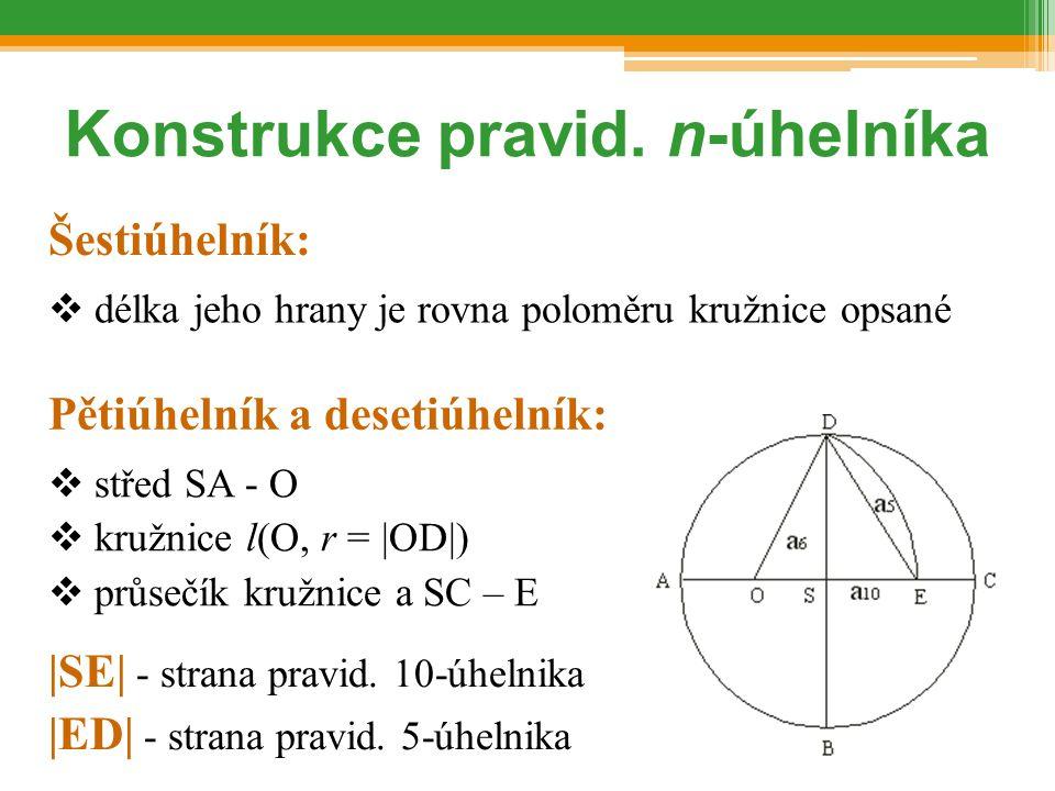 Konstrukce pravid. n-úhelníka