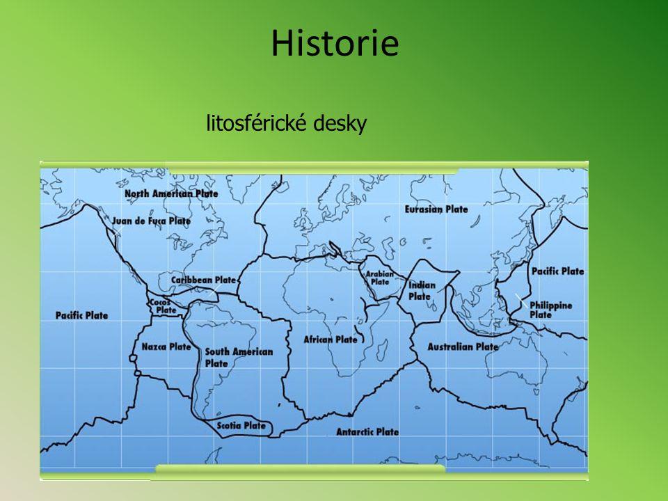 Historie litosférické desky