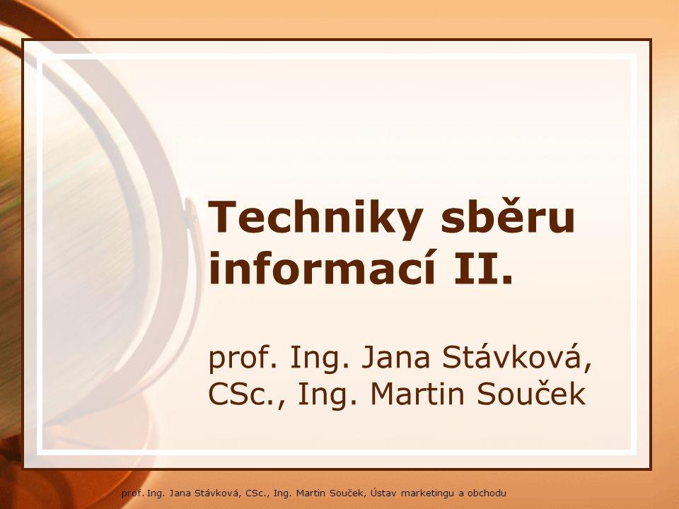Techniky sběru informací II.