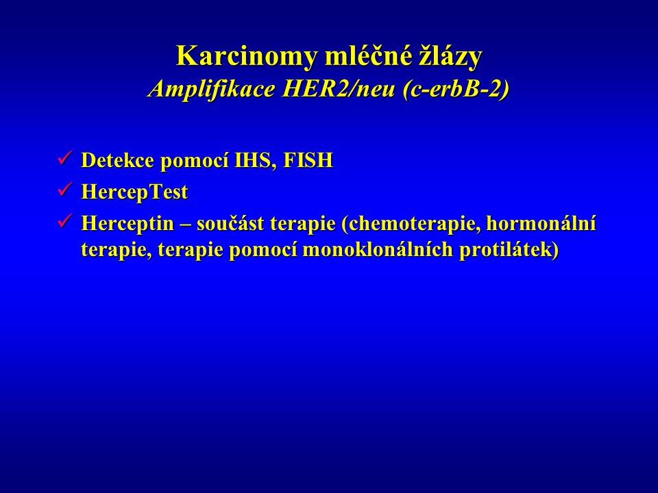 Karcinomy mléčné žlázy Amplifikace HER2/neu (c-erbB-2)