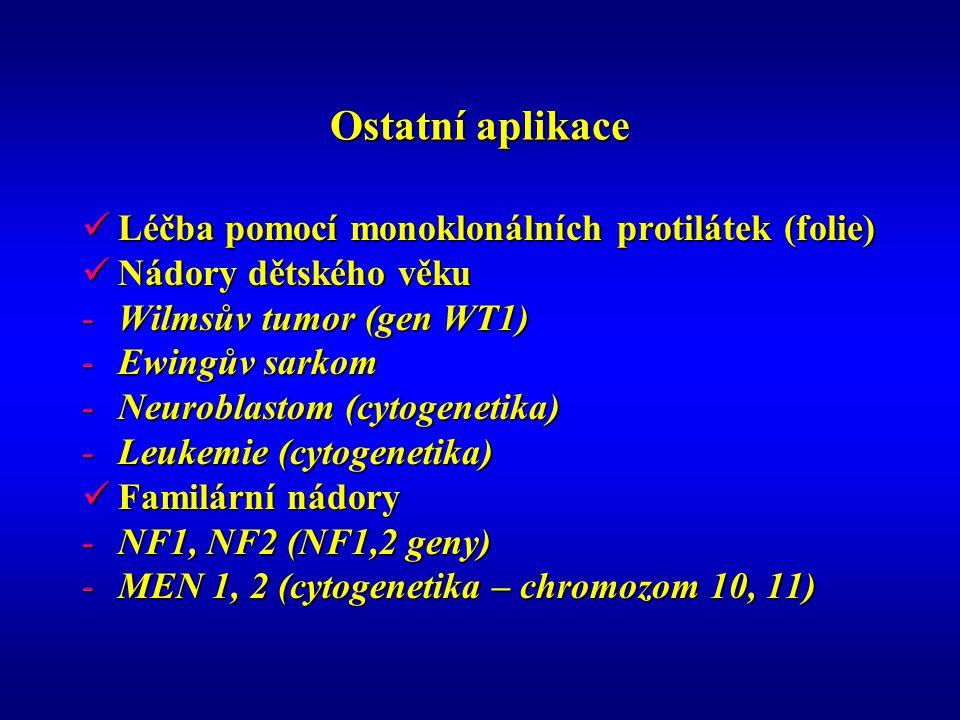 Ostatní aplikace Léčba pomocí monoklonálních protilátek (folie)