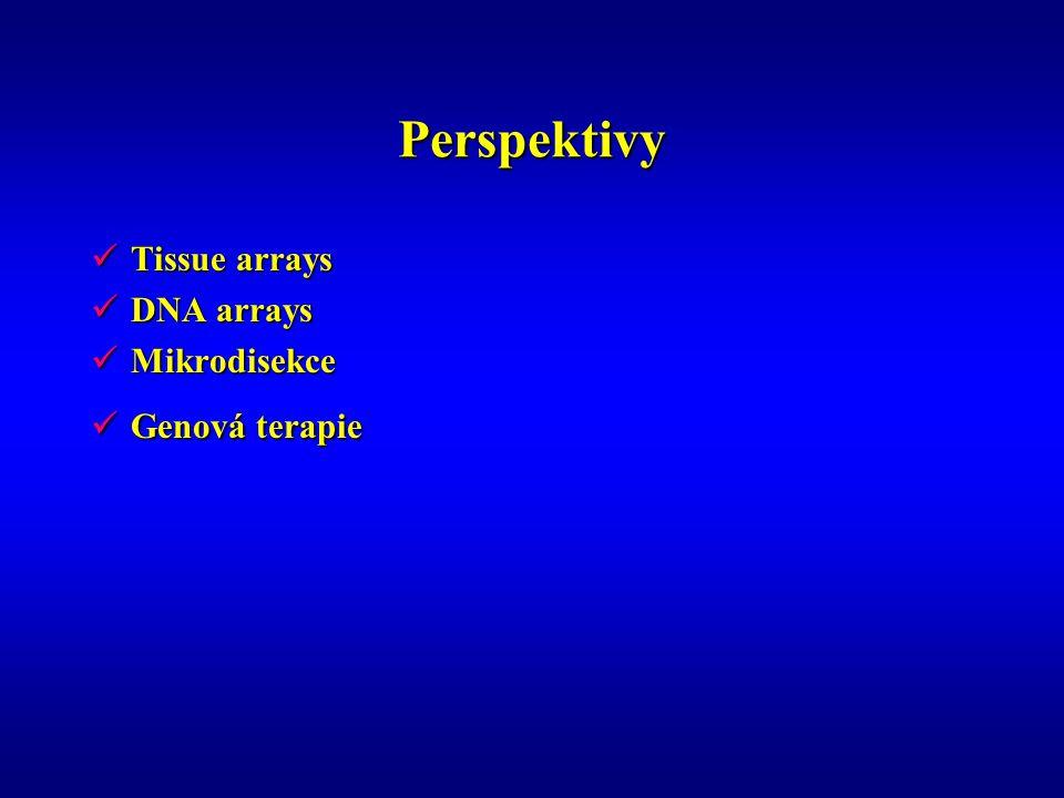 Perspektivy Tissue arrays DNA arrays Mikrodisekce Genová terapie