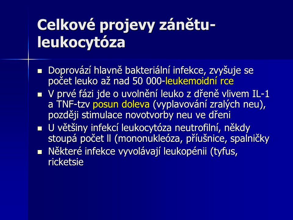 Celkové projevy zánětu-leukocytóza