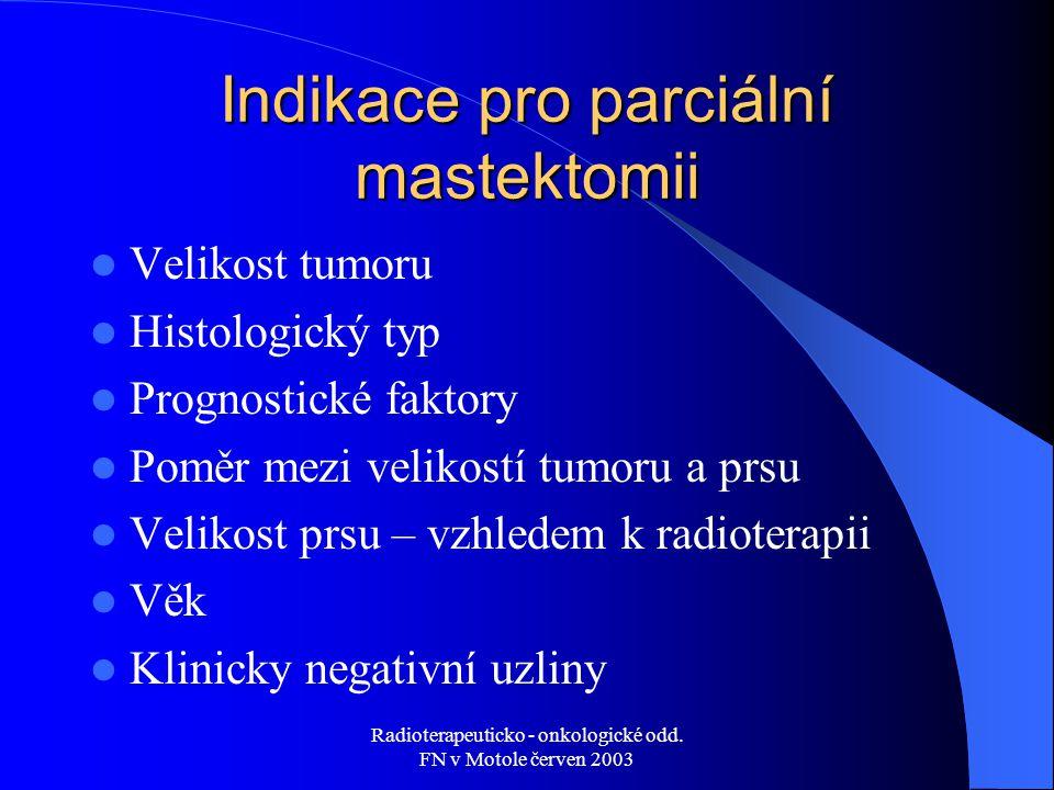 Indikace pro parciální mastektomii