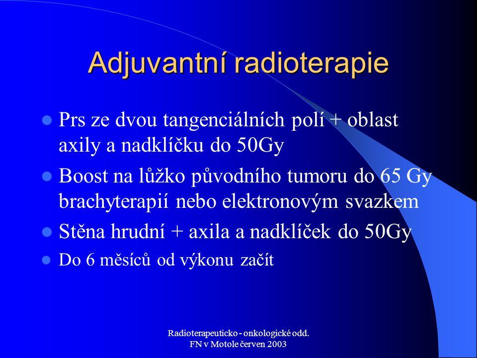 Adjuvantní radioterapie