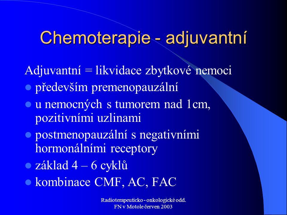 Chemoterapie - adjuvantní