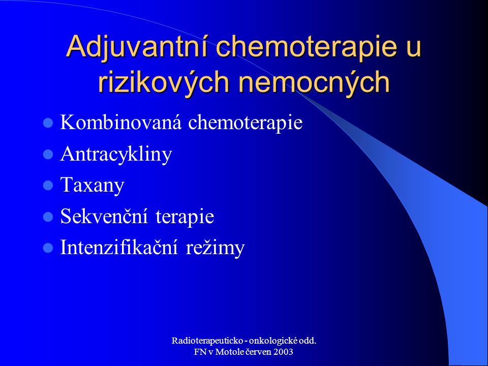 Adjuvantní chemoterapie u rizikových nemocných