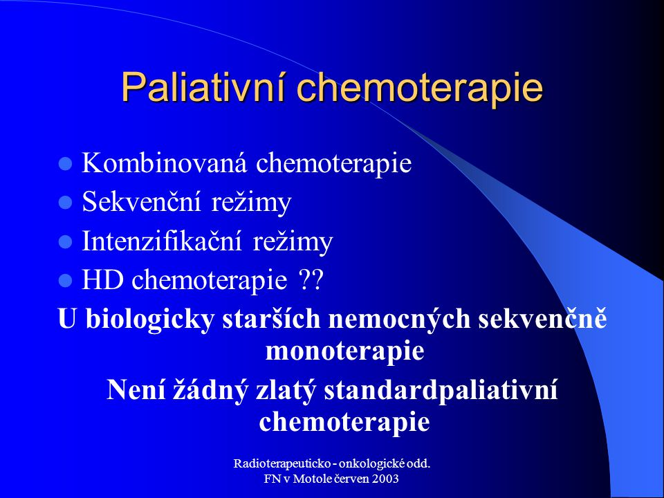Paliativní chemoterapie