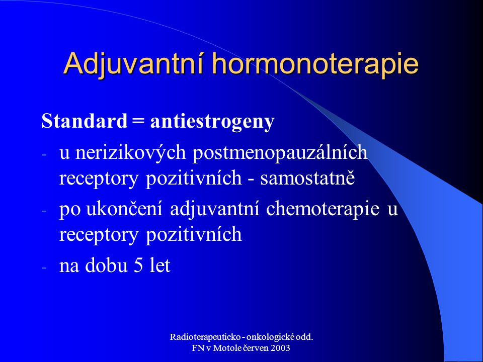 Adjuvantní hormonoterapie