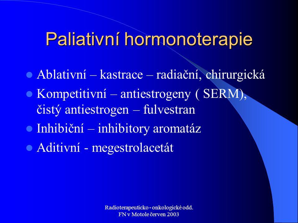 Paliativní hormonoterapie