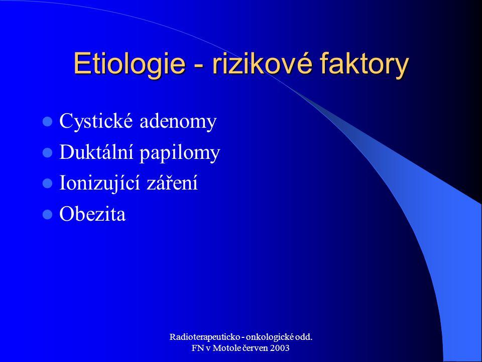 Etiologie - rizikové faktory