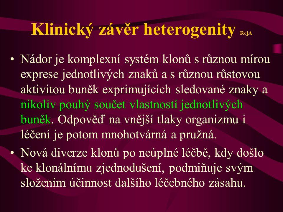 Klinický závěr heterogenity RejA