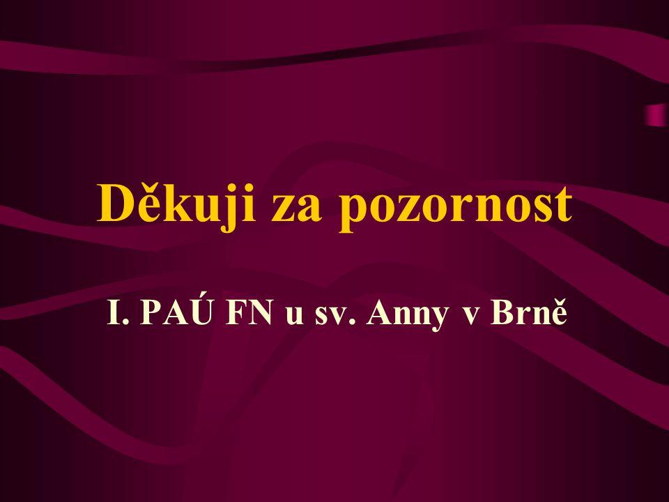 Děkuji za pozornost I. PAÚ FN u sv. Anny v Brně