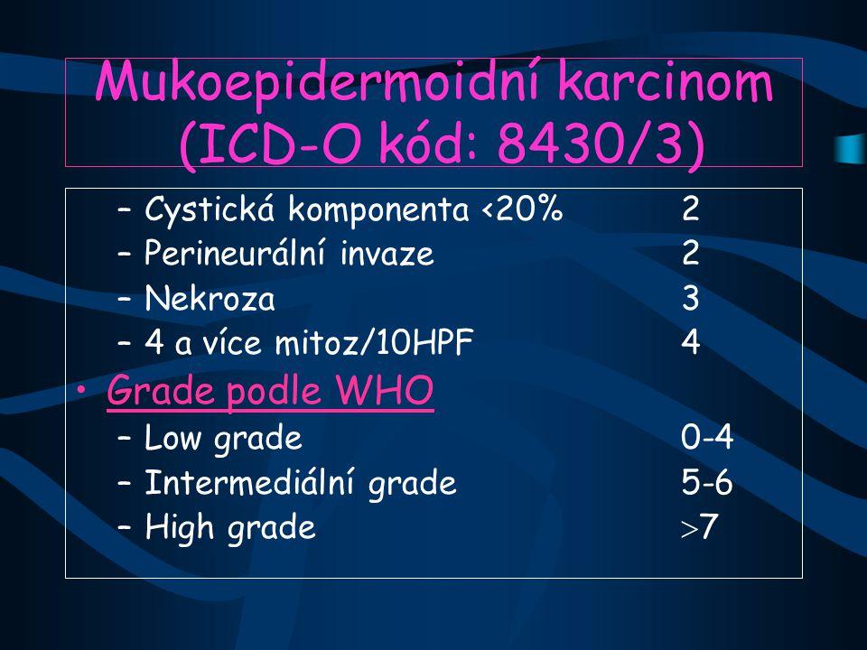 Mukoepidermoidní karcinom (ICD-O kód: 8430/3)