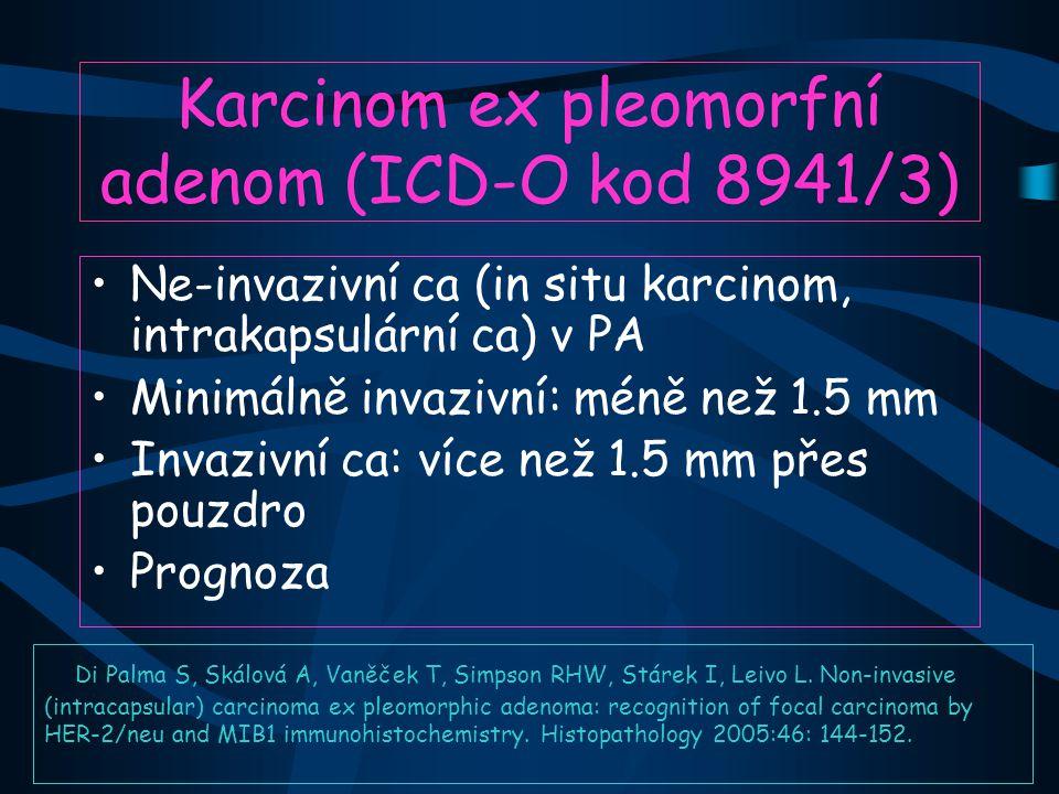 Karcinom ex pleomorfní adenom (ICD-O kod 8941/3)